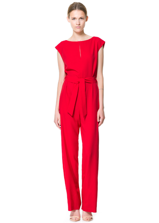 Zara belted jumpsuit, £39.99