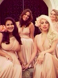 Lady Gaga at a friend's wedding in Mexico