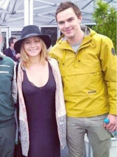 Jennifer Lawrence and Nicholas Hoult at the Canadian Grand Prix