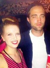 Robert Pattinson with fans at a Bjork concert