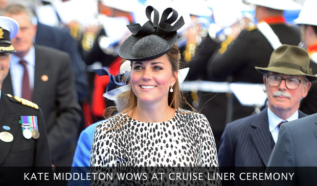 Kate Middleton Wows At Cruise Liner Ceremony