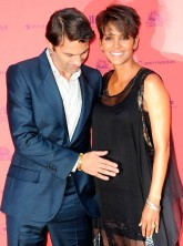 Halle Berry and Olivier Martinez on the red carpet in Paris