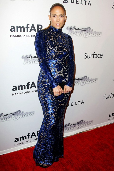 Jennifer Lopez at the amfAR Inspiration Gala 2013 in New York