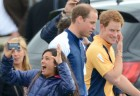 Prince William and Harry cause hysteria at the polo