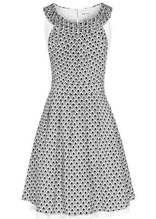 Reiss printed silk dress, £159
