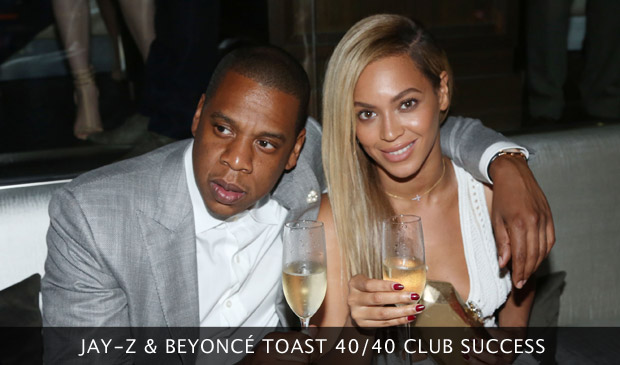 Beyonce & Jay-Z Toast 40/40 Club Success
