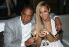 Jay-Z and Beyonce at the 10th anniversary party of the 40/40 club
