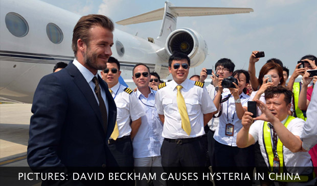 In Pictures: David Beckham Causes Hysteria In China
