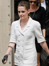 Kristen Stewart wearing Chanel at Haute Couture Week 2013