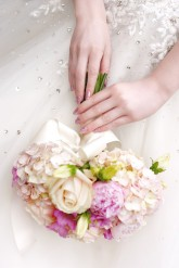 Wedding nail art - pretty in pink