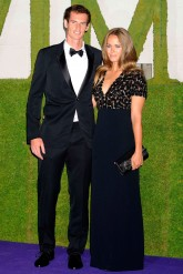 Andy Murray and Kim Sears on the red carpet at the Wimbledon champions dinner