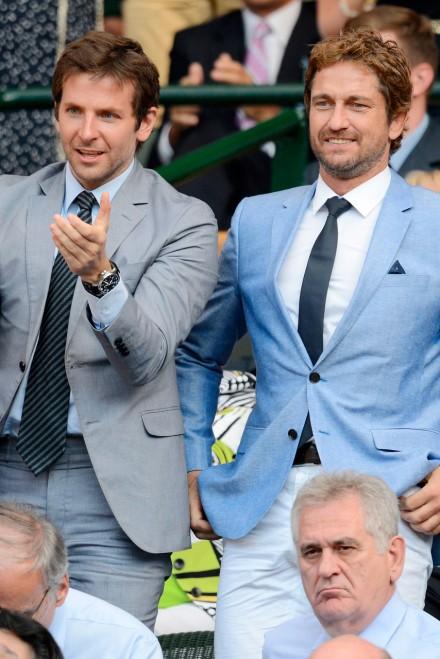 Bradley Cooper and Gerard Butler at Wimbledon 2013