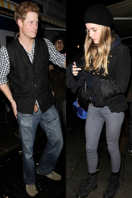 Cressida Bonas and Prince Harry out and about in London
