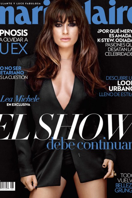 Lea Michele on the cover of Marie Claire Mexico