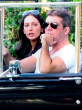 Simon Cowell and Lauren Silverman drive around LA in 2012