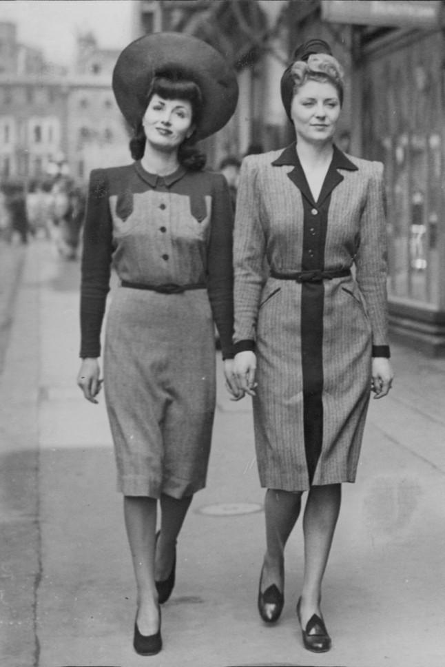 1940s Women Clothing British women headed to the