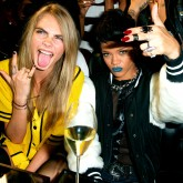 Cara Delevingne and Rihanna at her River Island launch party