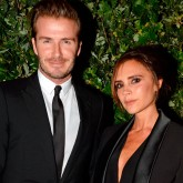Victoria Beckham and David Beckham at the British Fashion Council party