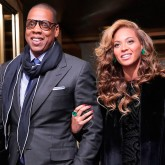 Beyonce and Jay Z at President Obama's inauguration