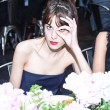 Alexa Chung with a fringe hairstyle