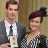 Andy Murray and Kim Sears at Buckingham Palace
