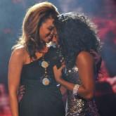 Beyonce and Alexandra Burke