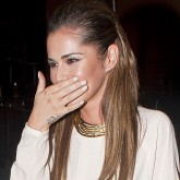 Cheryl Cole and Kimberley Walsh party at Zuma in London