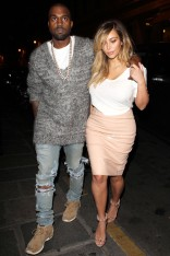 Kim Kardashian and Kanye West out and about