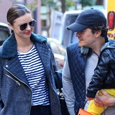 Miranda Kerr and Orlando Bloom are all smiles after confirming their split