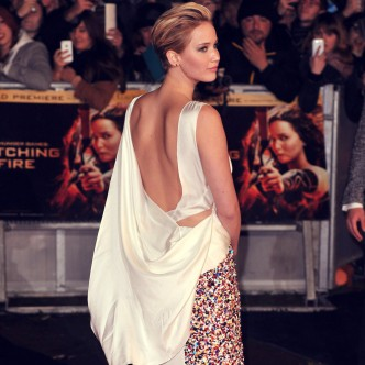 Jennifer Lawrence at Hunger games premiere, 2013