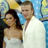 Victoria and David Beckham do Dolce and Gabbana at the 2003 MTV Awards
