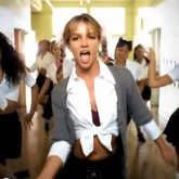 Britney Spears in school uniform in her Baby One More Time video