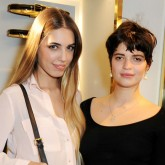 Amber Le Bon and Pixie Geldof party in London