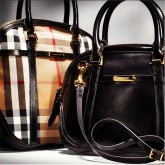 he Burberry Orchard bag in bridle leather and classic house check