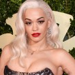 Rita Ora on the red carpet at the British Fashion Awards
