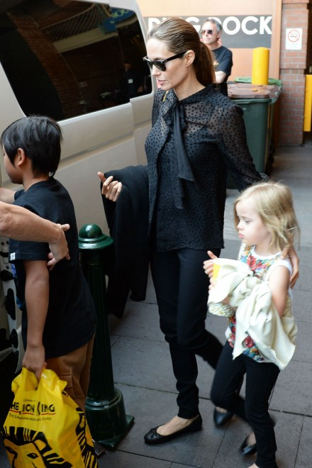 Angelina Jolie enjoys a day out with her kids in Australia
