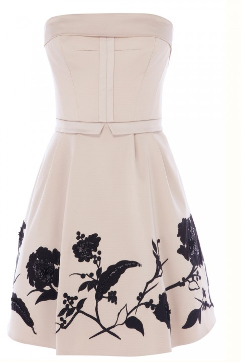 Karen Millen Placed Flower Prom Dress