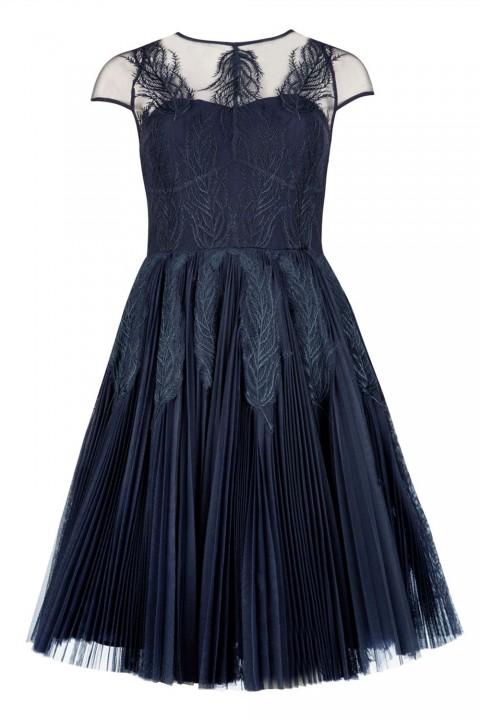 Ted Baker Miyaa Feather Applique Motif Dress