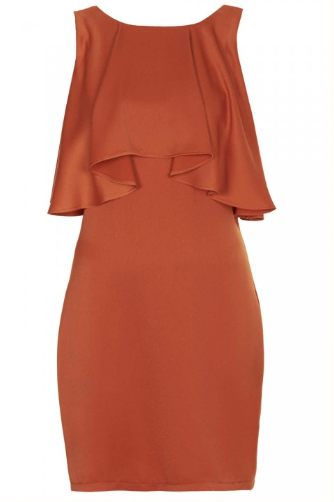 Topshop Frill Back Dress