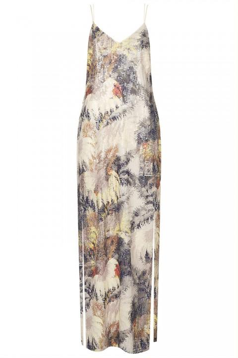 Topshop Printed Sequin Maxi Dress