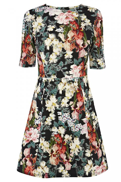 Warehouse Premium Floral Print Dress