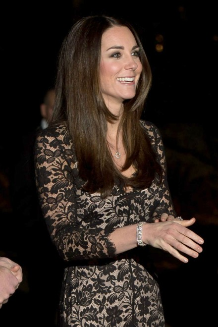 Kate Middleton recycles Temperley lace dress