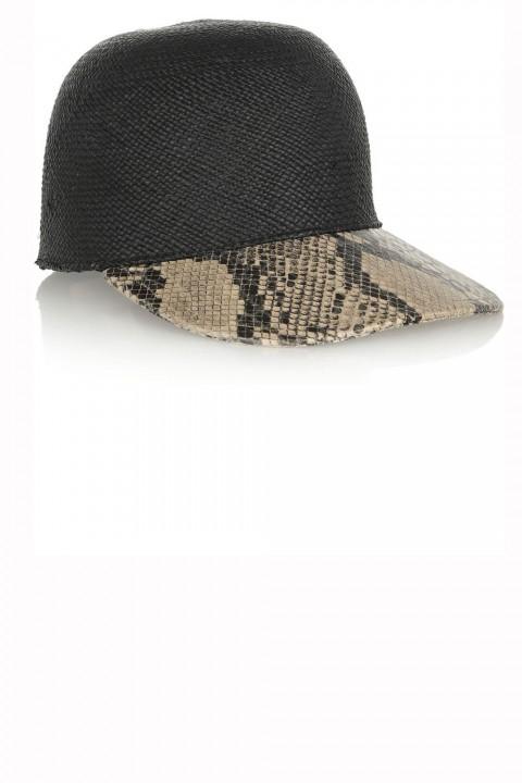 Stella McCartney snakeskin cap