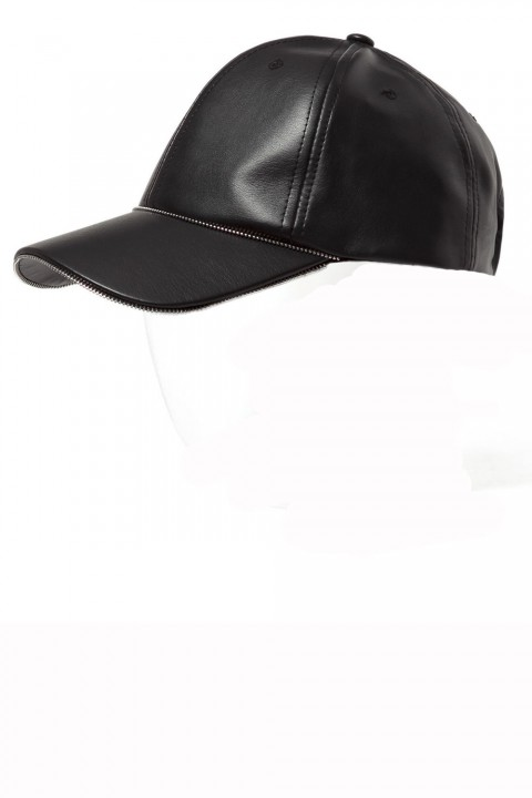 Zara leather baseball cap