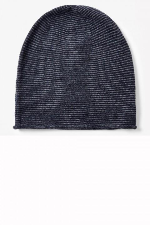 Cos wool blend stripey beanie hat