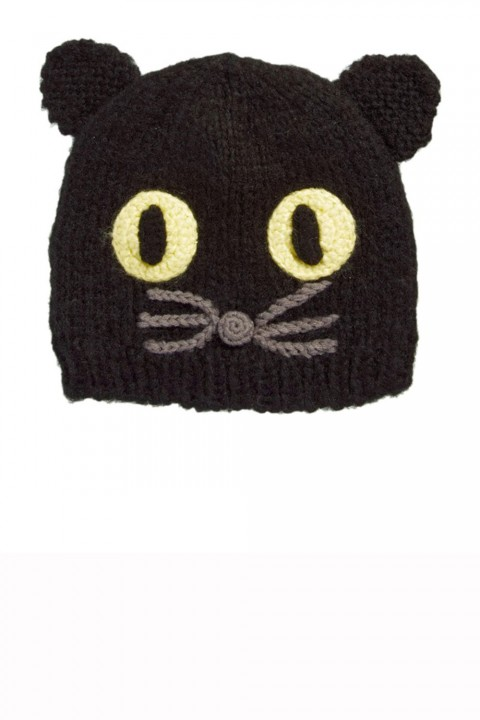 Asos cat face knitted beanie hat