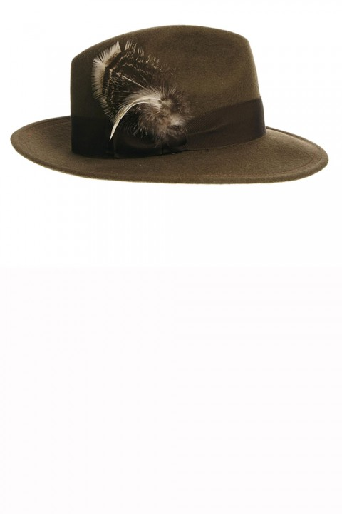 Laird chocolate brown fedora hat