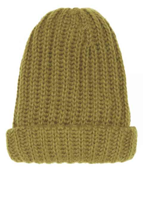 Topshop moss green knitted hat