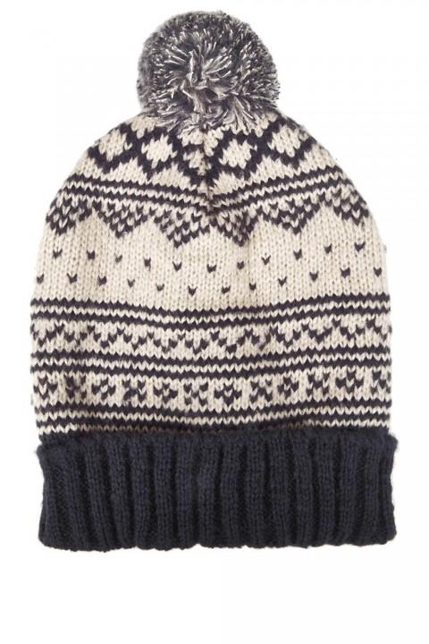 Topshop fairisle knitted beanie hat