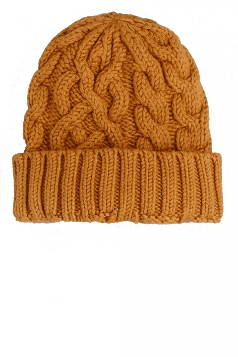 & Other Stories mustard knitted beanie hat